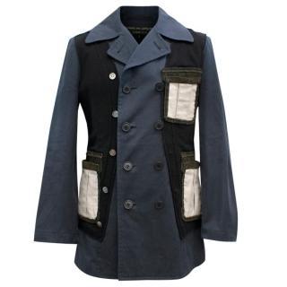 Comme Des Garcons Men's Patchwork Suit Jacket