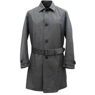 Prada Men's Grey Trench Coat