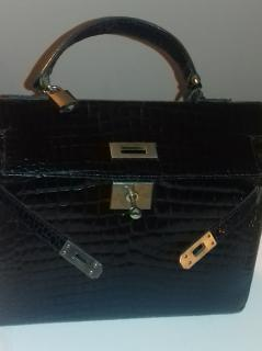 Kelly Vintage Crocodile Handbag 28cm