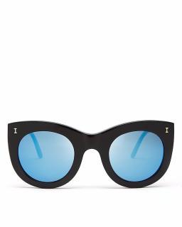 Illesteva Mirrored Boca Oversized Sunglasses