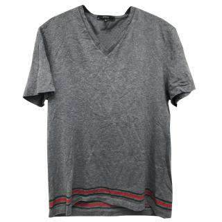 Gucci men's grey t-shirt