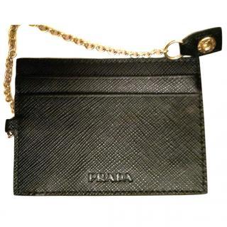 prada women black card holder