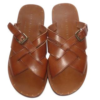 Ralph Lauren Leather Slides Sandals