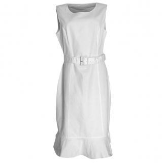 Valentino white cotton belted tank dress