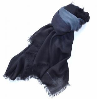 Bottega Veneta navy wool scarf