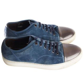 LANVIN suede low top trainers