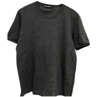 Dolce Gabbana men's grey t-shirt