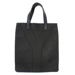 Yves Saint Laurent Black Y Tote