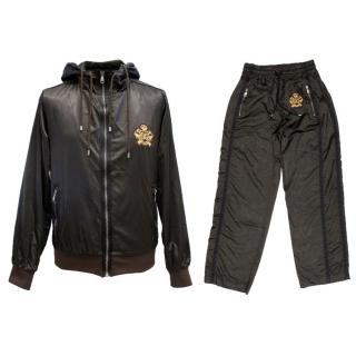 Dolce & Gabbana Men's Dark Brown Two Piece Boxe Tracksuit