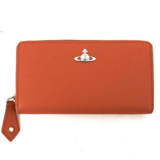 Vivienne Westwood Burnt Orange Opio Zip Purse