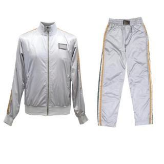 Dolce & Gabbana Men's Silver Two Piece Tracksuit