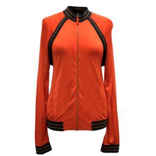 Jean Paul Gaultier Soleil Orange Open Back Track Jacket