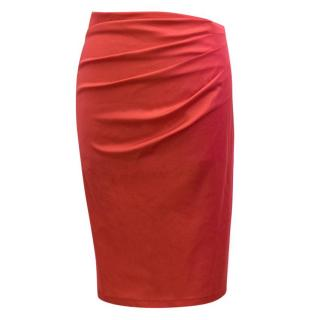Donna Karan Red Pencil Skirt