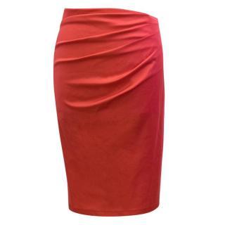 Donna Karan Red Pencil Skirt