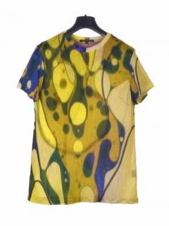 Christopher Kane green multicolour dip dye T-shirt
