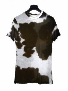 Christopher Kane dark green multicolour dip dye T-shirt