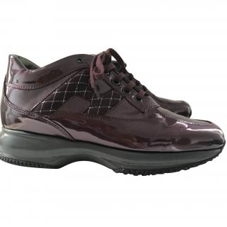 HOGAN Patent leather sneakers