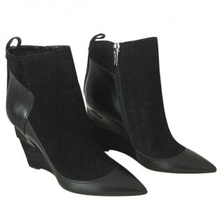 Jimmy Choo Shiny Calf and Suede boots