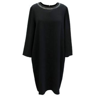 DKNY Black Embellished Dress