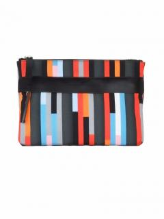 Christopher Kane multicolour casual bolster print clutch