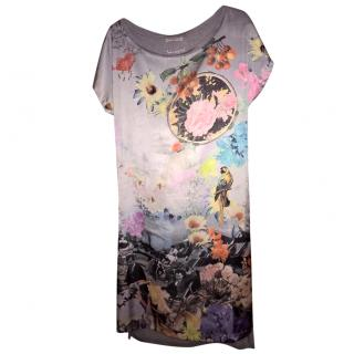 Paul Smith t shirt dress with abstract floral front