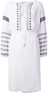 Altuzarra White Silk Embroidered Dress