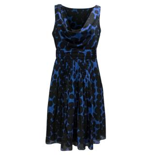 Moschino Cheap And Chic Black And Blue Spotted Dress