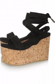Isabel Marant Suzy suede and cork wedge sandals