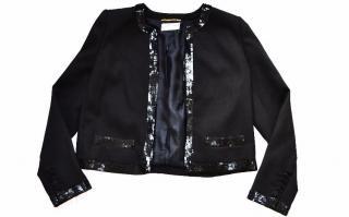 Saint Laurent black cropped jacket