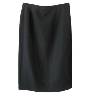 Yves Saint Laurent vintage classic black wool skirt.