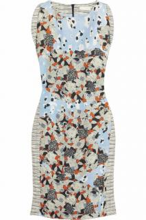 Michael Van Der Ham Floral-print cotton and linen-blend dress