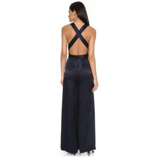 Temperley Isola wrap effect silk-satin jumpsuit maxi dress