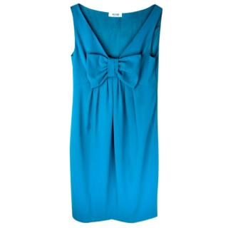 Moschino Cheap and Chic Turquoise Dress with Bow detail