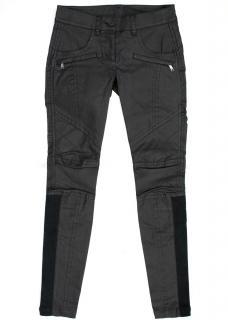 DKNY Cara Delevingne Black Coated Trousers
