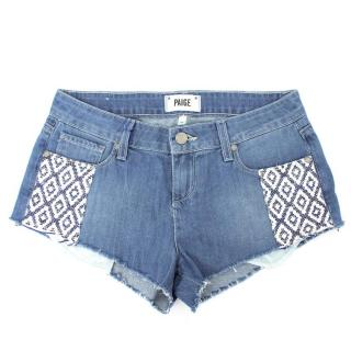 Paige Denim Mosaic Tile Echo Park Short