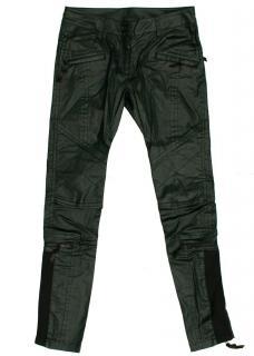 DKNY Green Coated Skinny Trousers