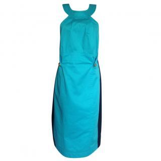 Dsquared turqoise halter neck dress