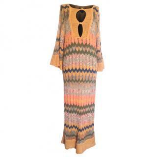 M Missoni crochet maxi knit tunic dress