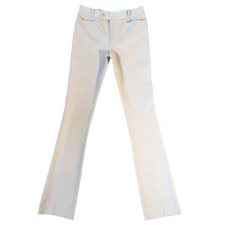 Joseph 'Rocket' gabardine stretchy beige slim fit trousers