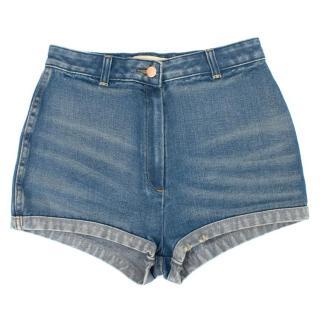 Sass & Bide High Waisted Denim Shorts