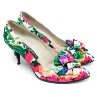 Stuart Weitzman for Russell & Bromley Floral Heels