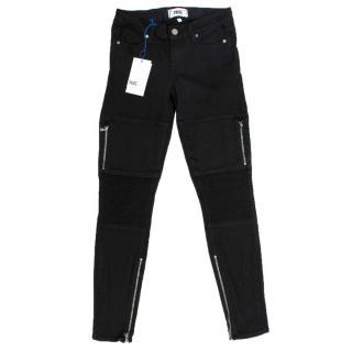 Paige Black Moto Jeans
