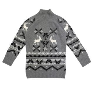 Stella McCartney Kids Grey Reindeer Jumper