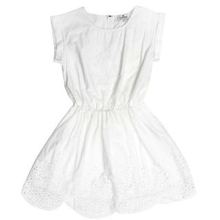 Little Remix Girl's White Cotton Dress