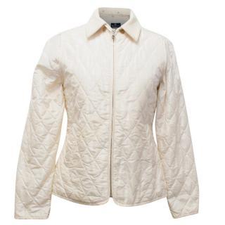 Aquascutum Cream Quilted Jacket
