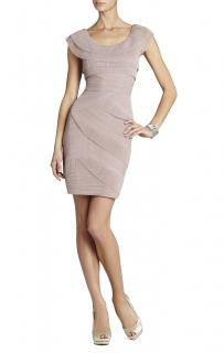 BCBG Max Azria taupe dress