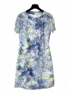 Erdem multicolour floral print silk dress