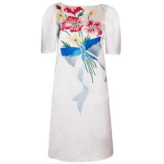 Antonio Marras Satin Dress With Embroidery