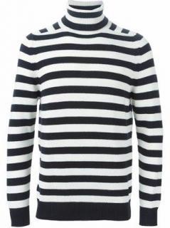 Saint Laurent runway cashmere striped rollneck jumper