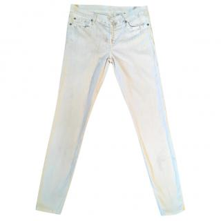 7 FOR ALL MANKIND 'The Skinny' ivory jeans True Batik jeans